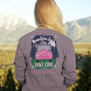 Simply Southern Mountain Hair Don't Care LS